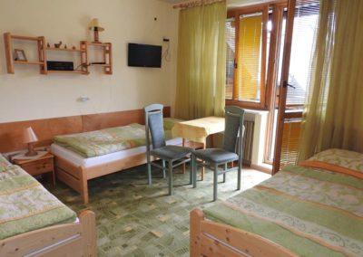 Pokój z TV i balkonem